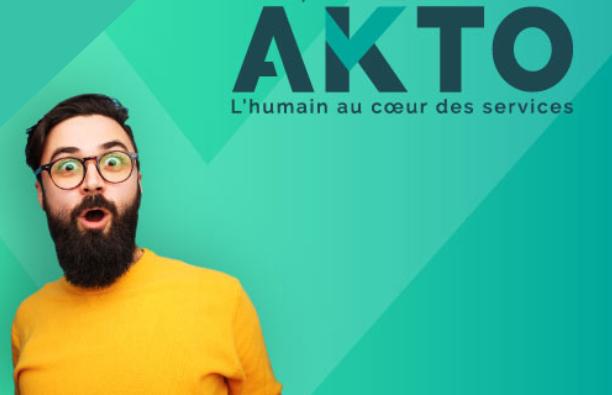 OPCO AKTO Logo Entreprises et services de salariés à forte intensité de main d'oeuvre